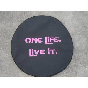 Sparecover Brawny Series One Life Live It 32 Pink Tire Cover