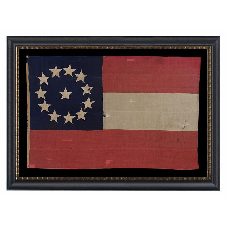 Usa 1861 Confederate 1st National Pattern Stars Bars Flag Made In The Opening Year Of The Civil War Entire Civil War Flags War Flag Civil War Confederate