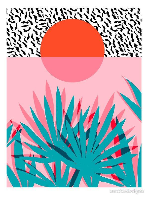 'Whoa - palm sunrise southwest california palm beach sun city los angeles hawaii palm springs resort decor' Art Print by wackadesigns