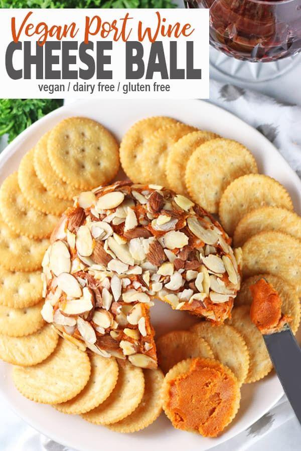 Vegan Port Wine Cheese Ball Recipe Healthy Vegan Snacks Vegan Snack Recipes Vegan Appetizers Recipes