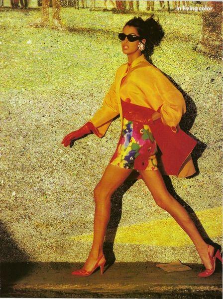 Yasmeen Ghauri by Patrick Demarchelier  - Vogue US Fevereiro 1991