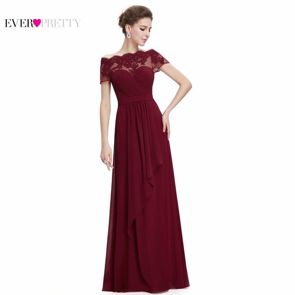 8927d3ea8e Burgundy Prom Dresses 2017 New Arrival EP08490 Women Boat Neck Royal ...