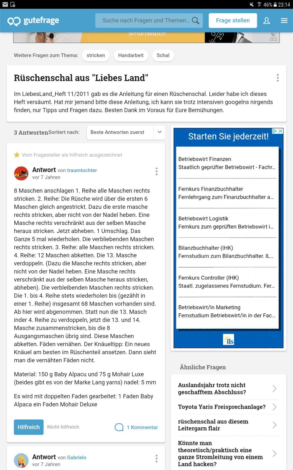 Anleitung Für Rüschenschal Aus Liebes Land Stricken Tücher Und