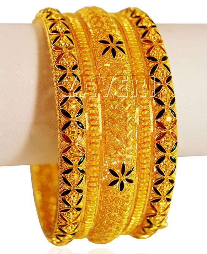 fancy bangles bangle chic sharp hbbc and tircolor choodi set tricolor
