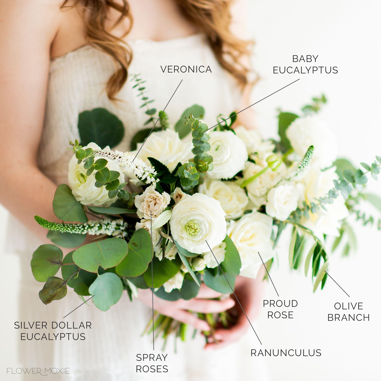 A La Carte Cream And Sage Bridal Bouquet Bulk Wedding Flowers Wedding Flower Packages Wedding Flower Arrangements