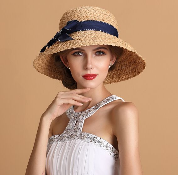 d61224d0310 nice Bow straw sun hat for women summer wear #SunHatsForWomen | Sun ...