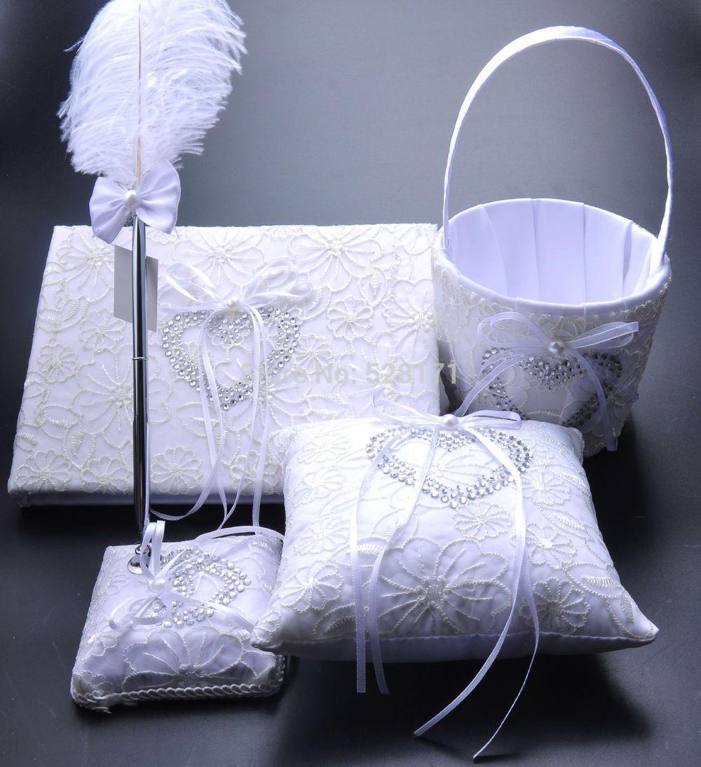 Goedkope 4pcsset Gratis Verzending Bruiloft Decoratie Set Bruiloft