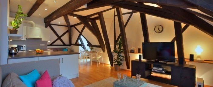 Accommodation In Prague For Up To 5 Persons 1 Bedroom 75sqm Impressive Terrace View Let The Old Town Rooftops Apartment Terrace Apartment Maisonette