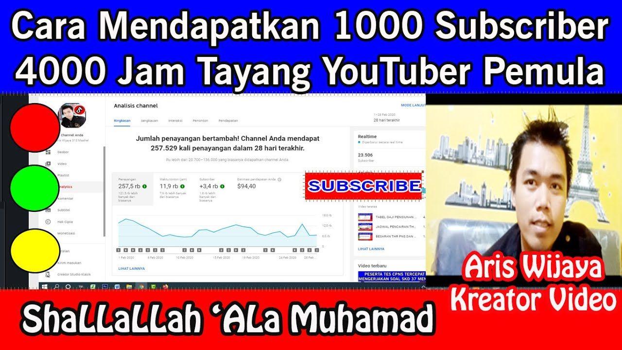 Cara Mendapatkan 1000 Subscriber Dan 4000 Jam Tayang Serta Banyak View U Pendidikan