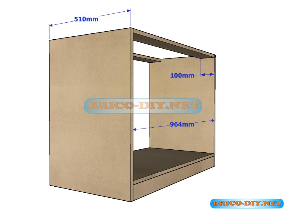 Brico web donde aprenderas bricolaje decoraci n for Planos muebles de cocina para armar