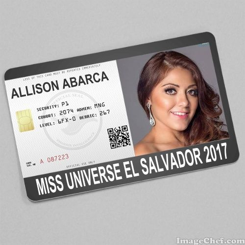 Allison abarca miss universe el salvador 2017 card id card allison abarca miss universe el salvador 2017 card pronofoot35fo Gallery
