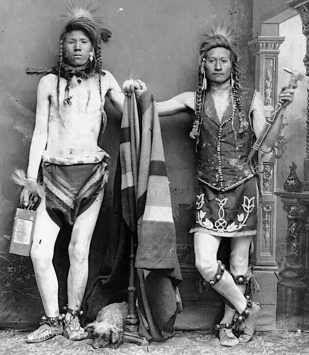 Nar-orse (Naroce) and Edge-yo-go. Shoshone. ca. 1884-1885. Source - Denver Public Library.