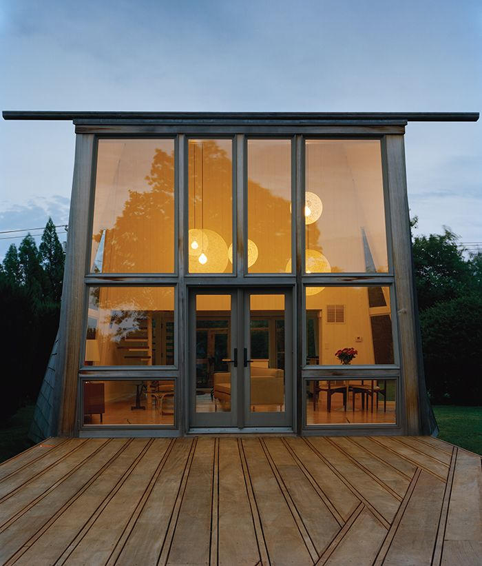 Articles about modern wood lined family home hamptons on Dwell