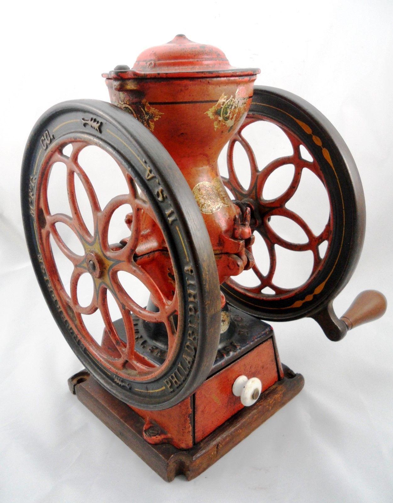 Antique 1898 Enterprise No.2 Cast Iron Coffee Mill Grinder