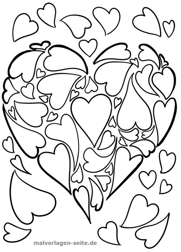 Malvorlage Herz Aus Herzen Symbol Malvorlagen Ausmalbilder Hochzeit Kostenlose Malvorlagen