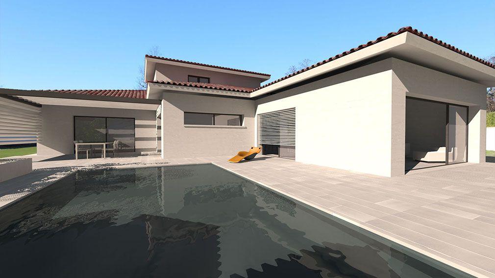 Plan Maison Architecte - Maison contemporaine à étage partiel