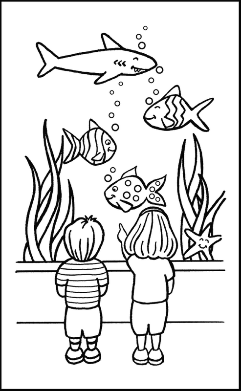 coloriage-poisson-aquarium - Thema dierentuin kleuters / Zoo theme ...