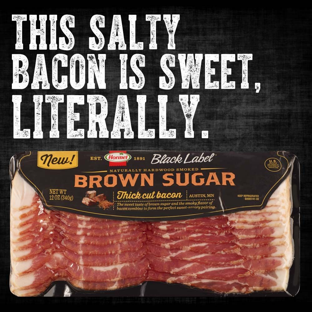 Products Hormel Black Label Bacon In 2020 Bacon Hormel Brown Sugar Bacon