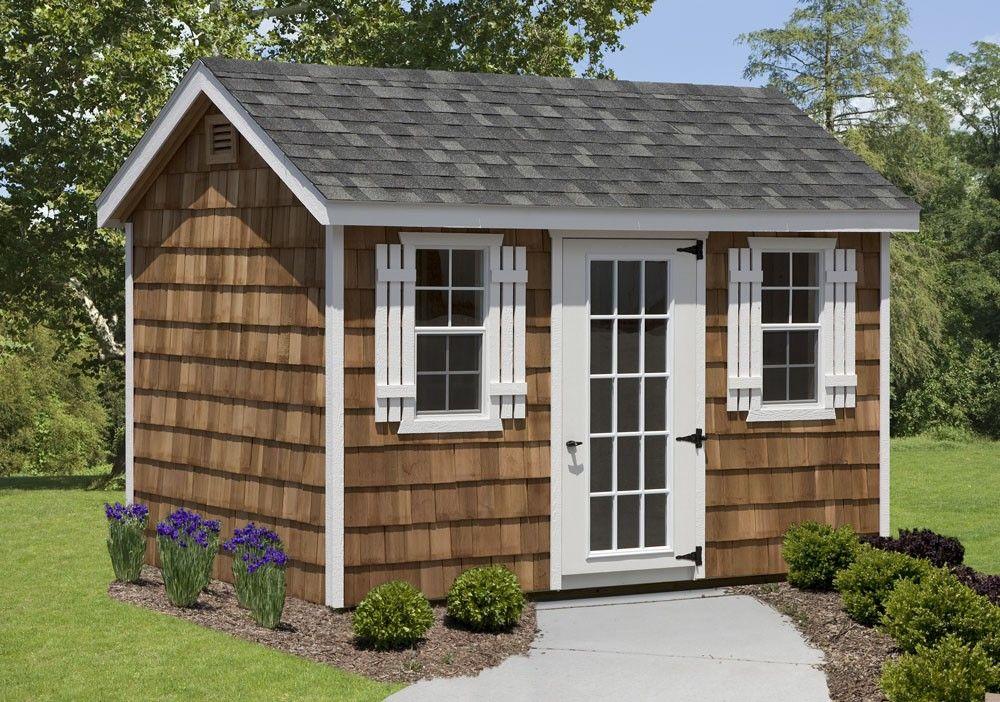 amish  frame shed  cedar shake walls amish sheds