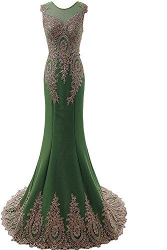 e3750f32bf Onlinedress Women s Sleeveless Long Formal Evening Prom Dress Size 6 Olive  Green