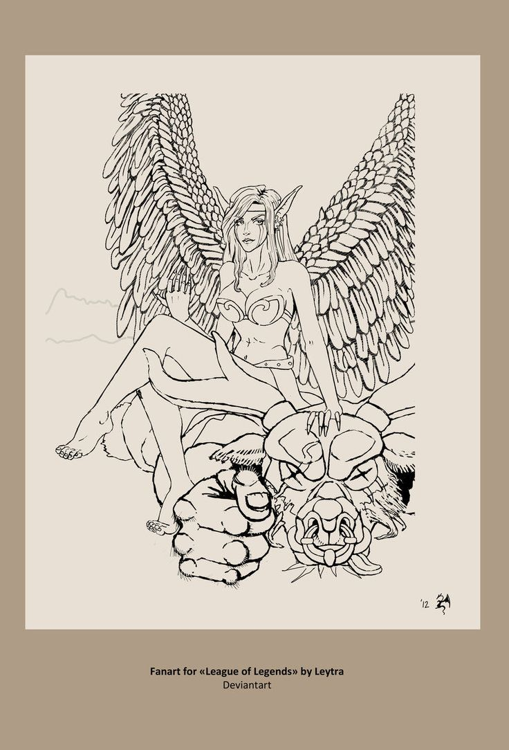 Morgana Lol lineart by Leytra | Coloring Pages | Pinterest