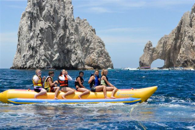 """Getting out on the water in Los Cabos #Mexico is a must-do! This is a great way to get amazing views of the arch (""""El Arco"""") at Land's End in Cabo San Lucas. #travel #activities"""