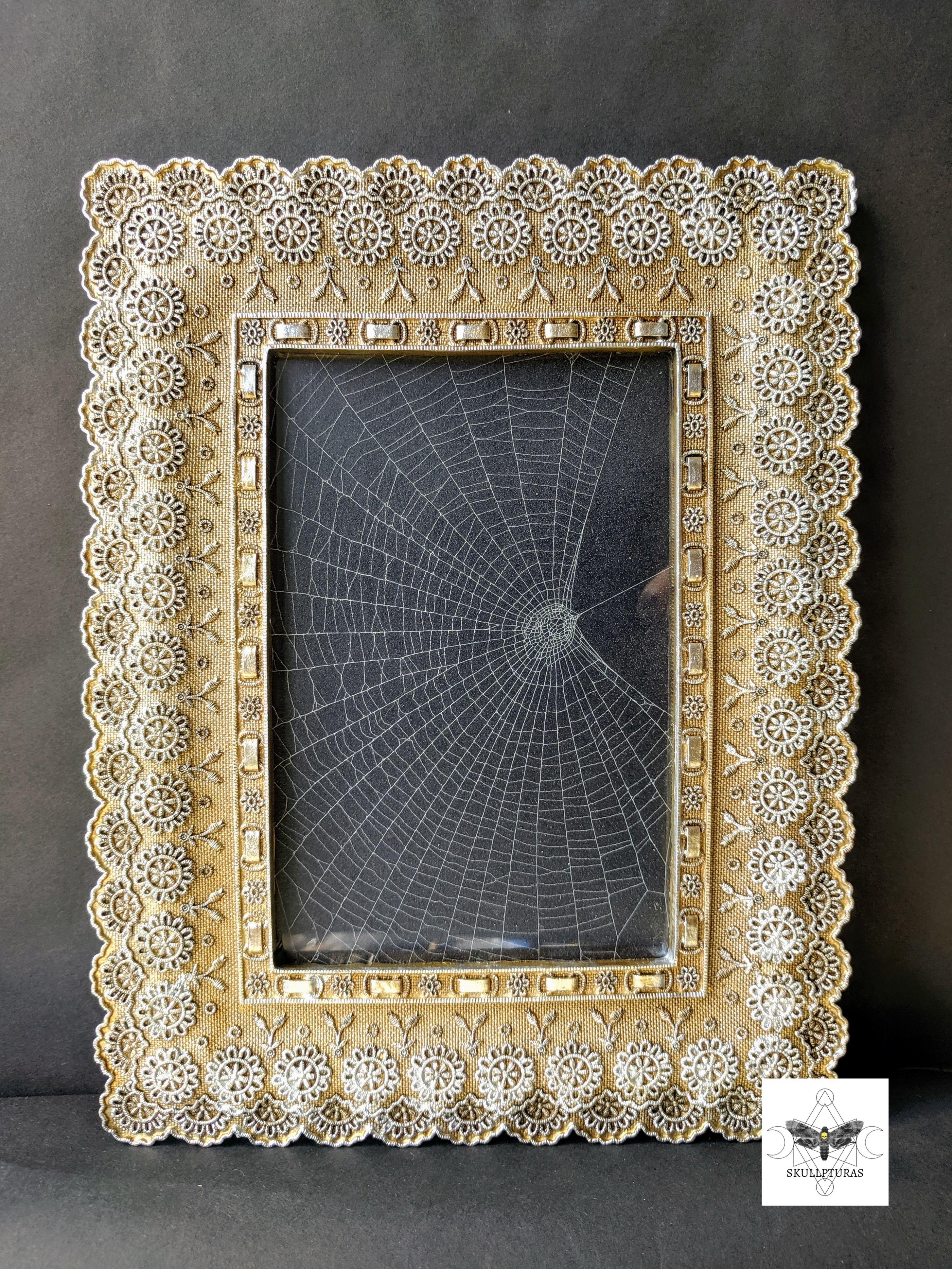 Framed genuine spiderweb gothic decor gothic house