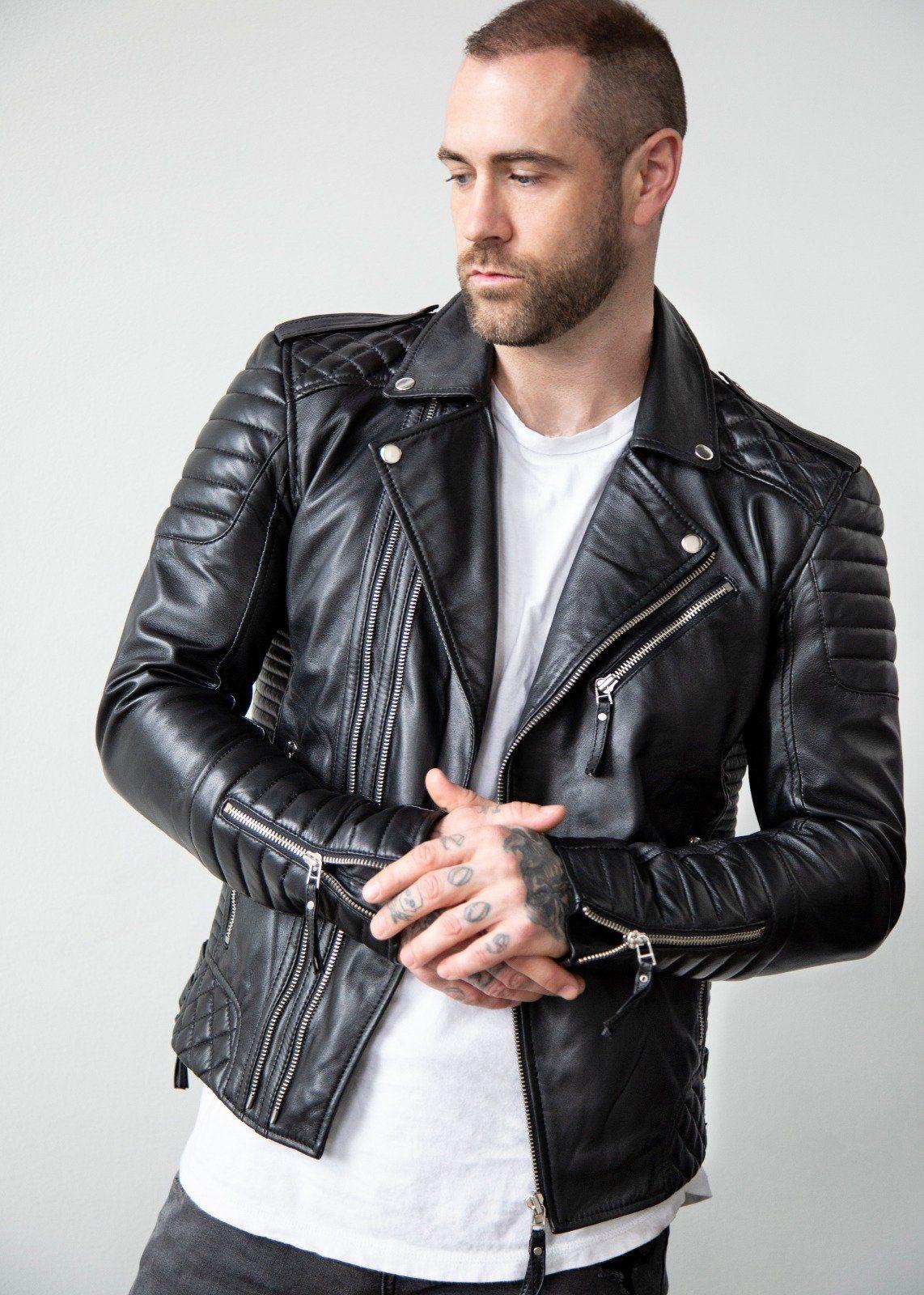 Mens Quilted Black Leather Motorcycle Jacket Black Leather Motorcycle Jacket Black Leather Jacket Men Mens Designer Leather Jackets [ 1600 x 1142 Pixel ]