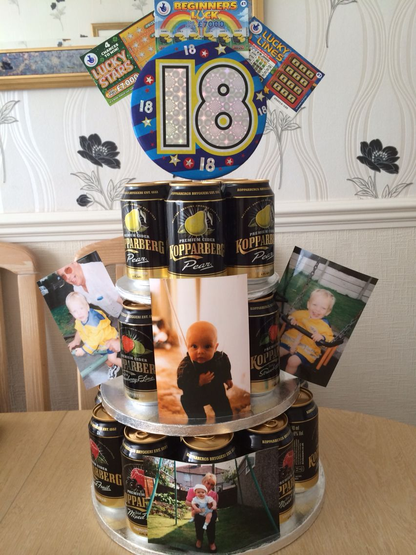18th Birthday Cider Cake I Made For My Son 18th Birthday Gifts 18th Birthday Present Ideas