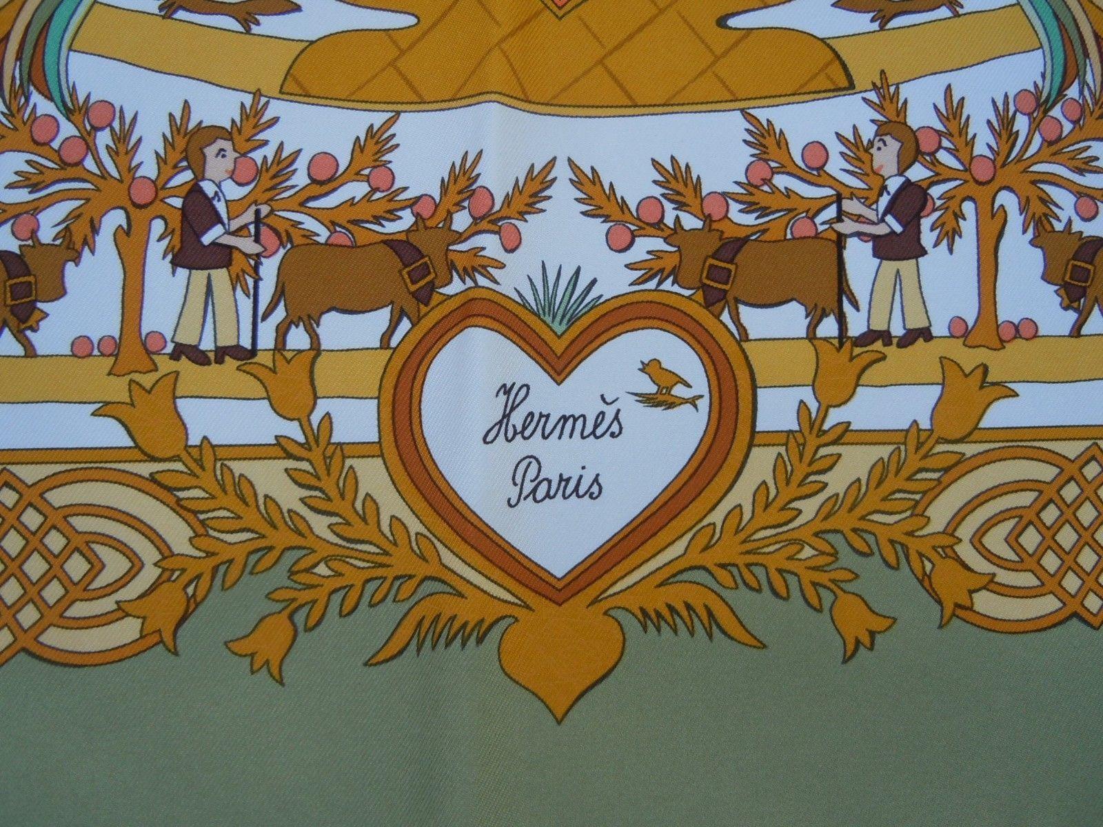 88b34503a2ff Hermès foulard carré soie découpages Anne Rosat Hermes France authentique    eBay