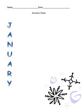 Cute Acrostic poetry for each month of the year
