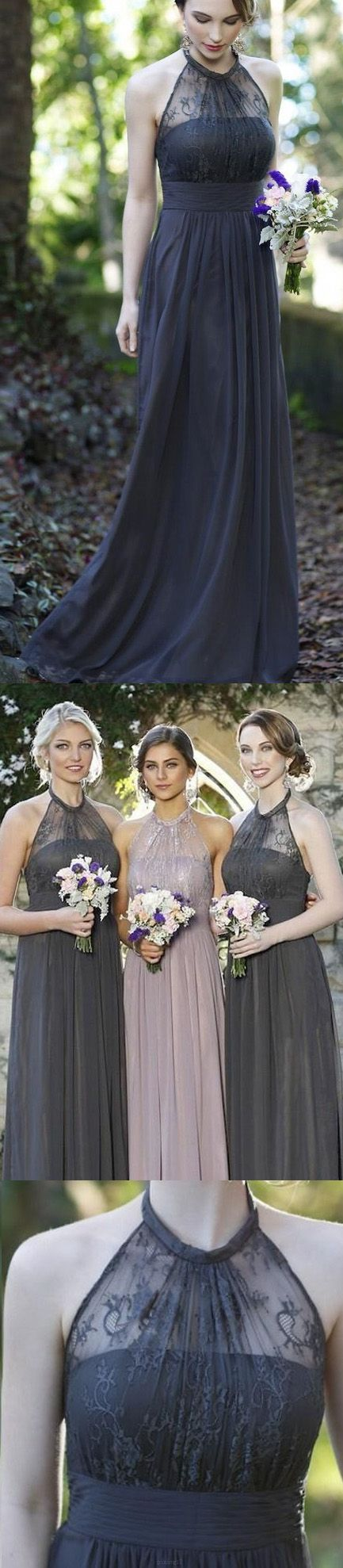 Custom made long bridesmaid dress cute navy bridesmaid dresses with