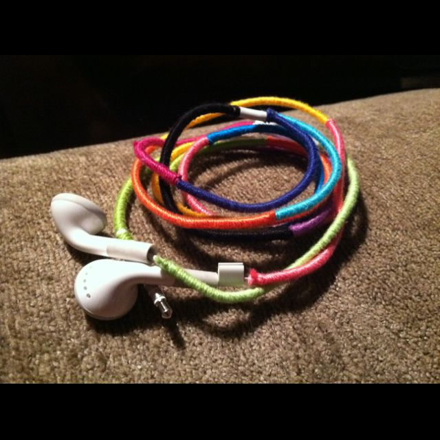 Wrapped headphones for color and personality!