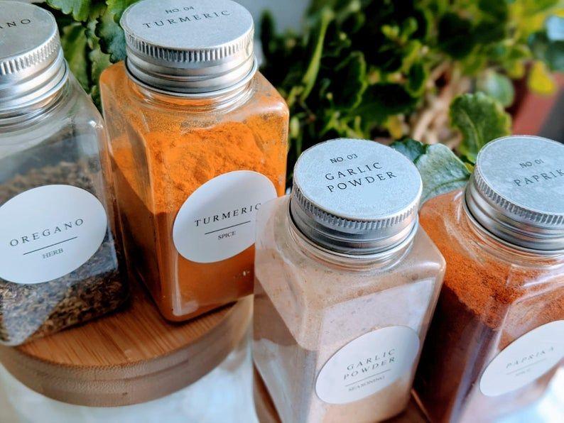 diy clear labels for jars