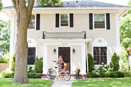 Blueprint bliss black white dream home pinterest bliss simple 2 story this has to be one of my favorite home exterior styles timeless and approachable house today malvernweather Gallery