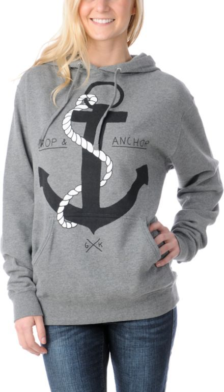 Glamour Kills Girls Drop & Anchor Pullover Hoodie