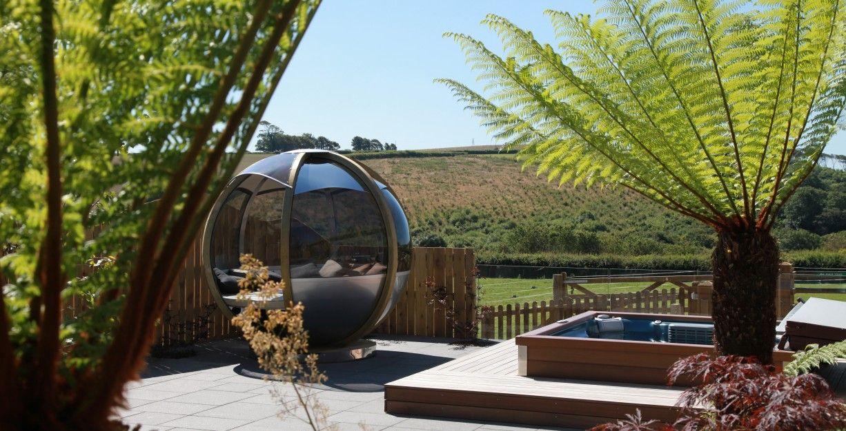 Nice Our Hot Tub Garden
