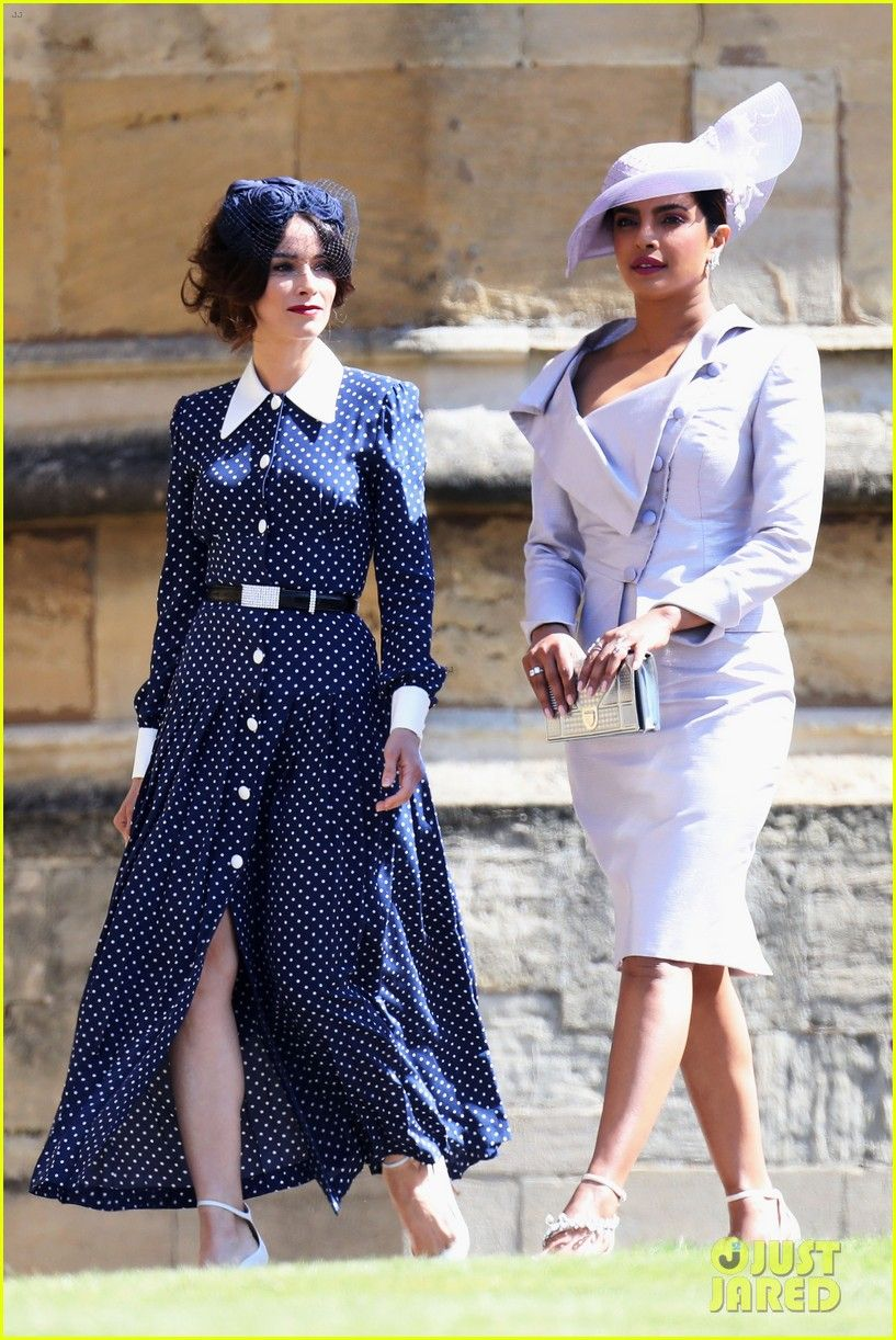 ba1d9adceb0 Priyanka Chopra and Abigail Spencer hold hands as they arrive at the Royal  Wedding at St. George s Chapel at Windsor Castle on ...