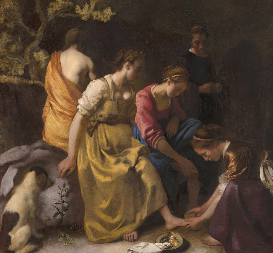 Diana And Her Nymphs Oil On Canvas By Johannes Vermeer I 2020