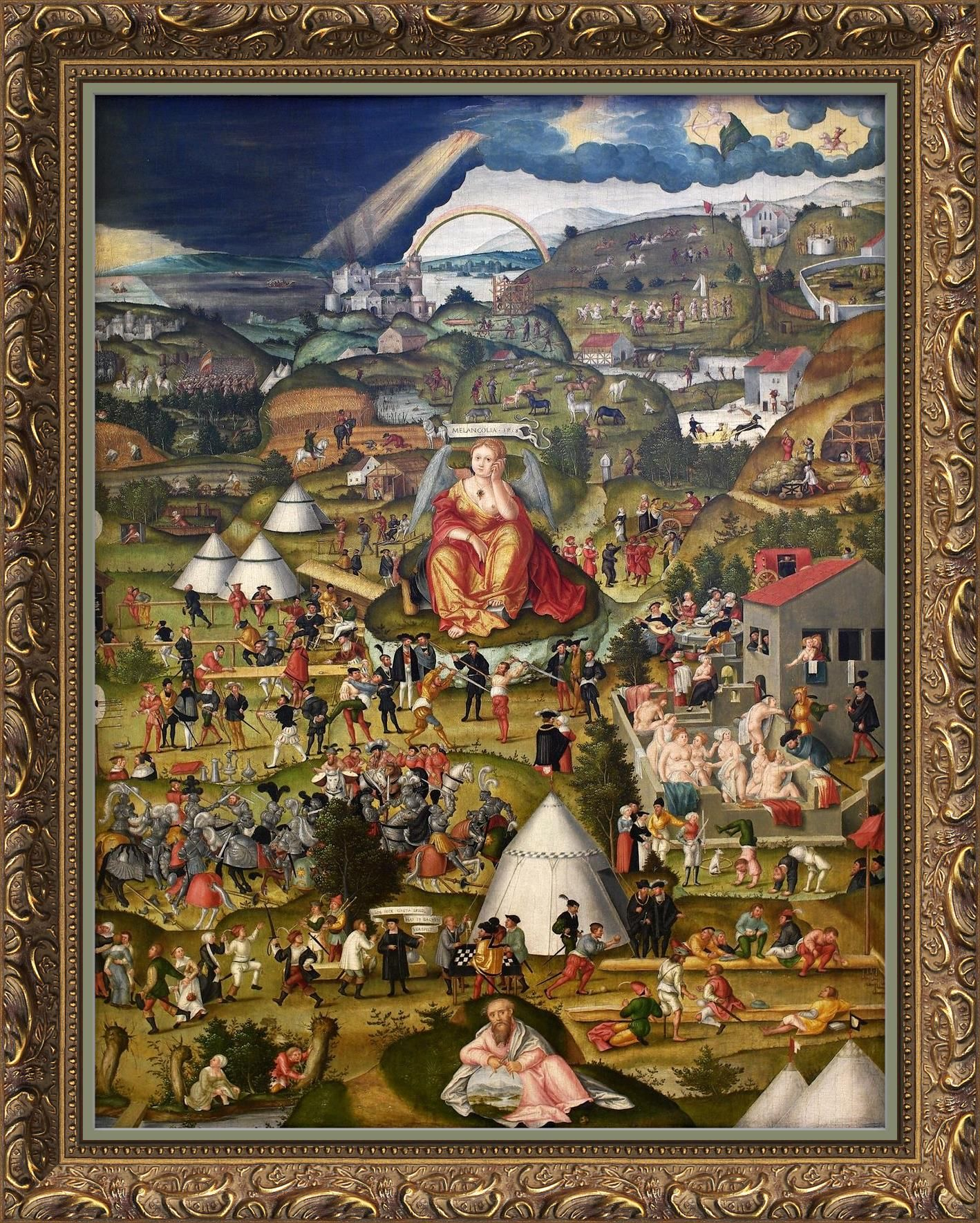 Die Melancholie Im Garten Des Lebens The Melancholy In The Garden Of Life 1558 Mixed Media On Basswood Staatliche Kunsthalle Art Art Gallery Melancholy
