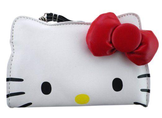 Amazon.com  Hello Kitty White Puffy Face Wristlet  Clothing  87b950ca14eb4