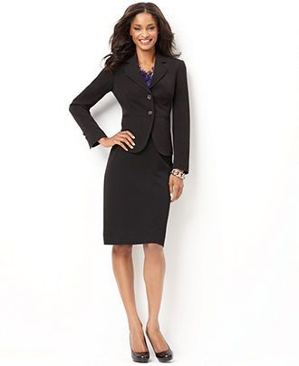Classic black blazer with pencil skirt | Business Professional ...