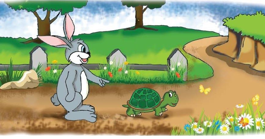 The Hare And The Tortoise Babies Stories Lion And The Mouse