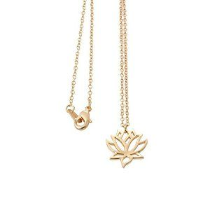 Amazoncom Senfai New Simple Gold And Silver Lotus Necklaces For