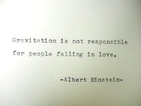 ALBERT EINSTEIN Poem Love Quote Albert Einstein Quote Hand Typed Quote Made with Vintage Typewriter