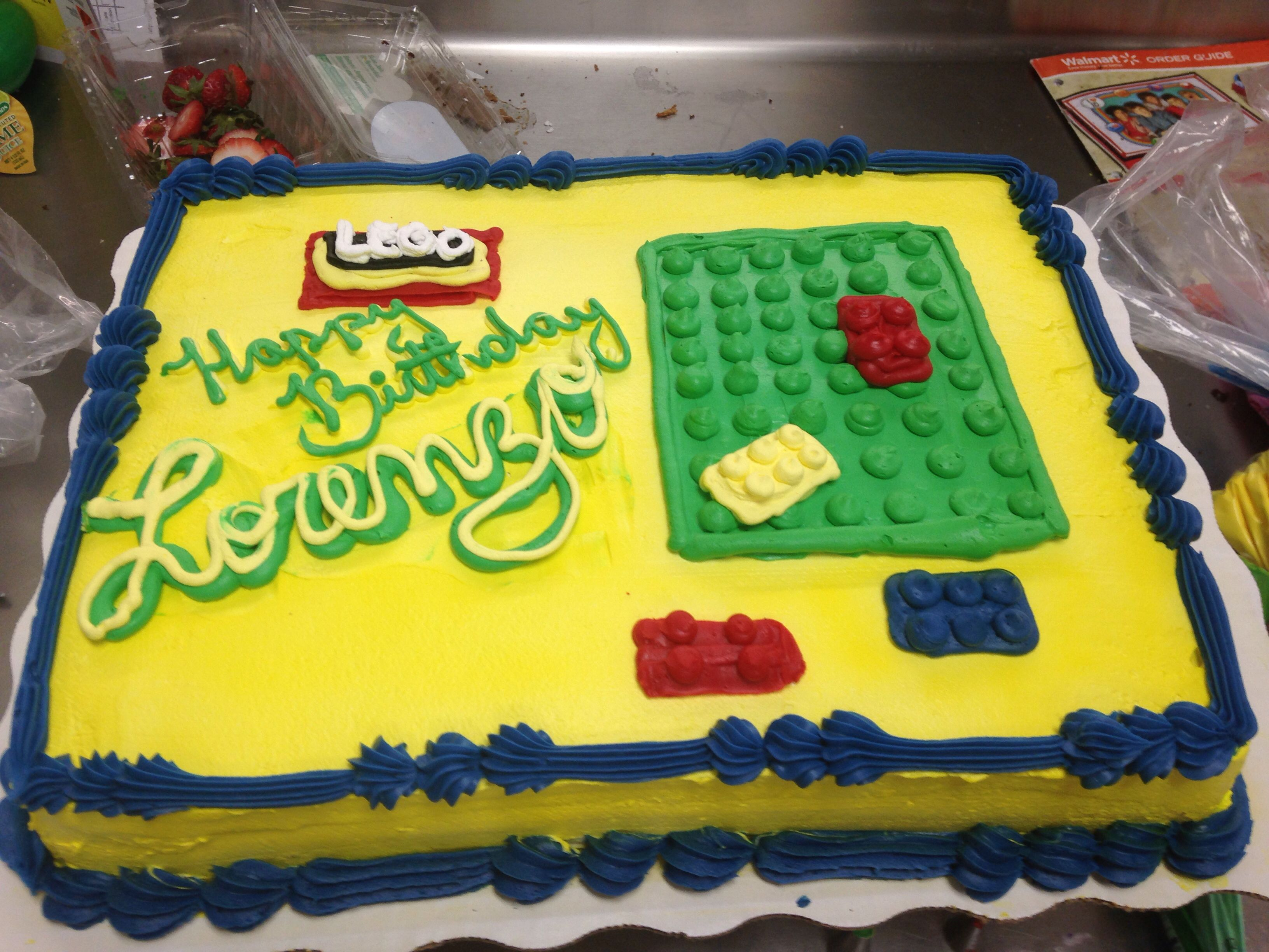 Lego Cake Whipcream Buttercream Cake Walmart Cake