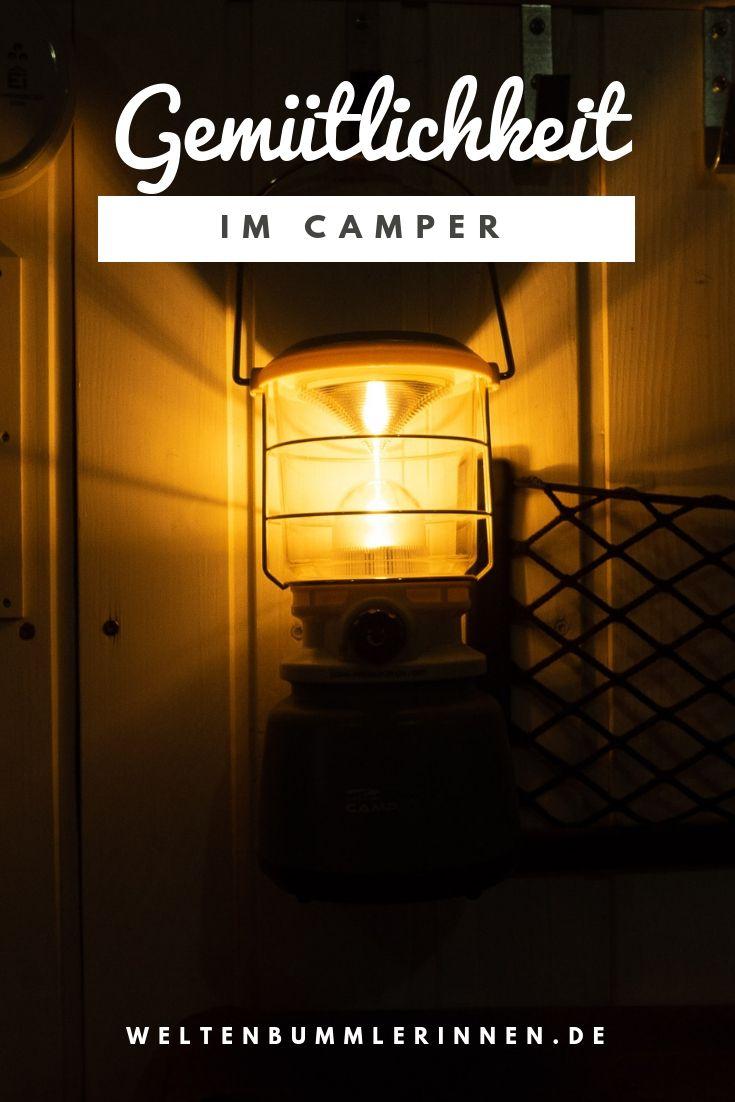 Statt Kerzen Gemutliches Licht Im Camper Camping Lampe Camping Lampe