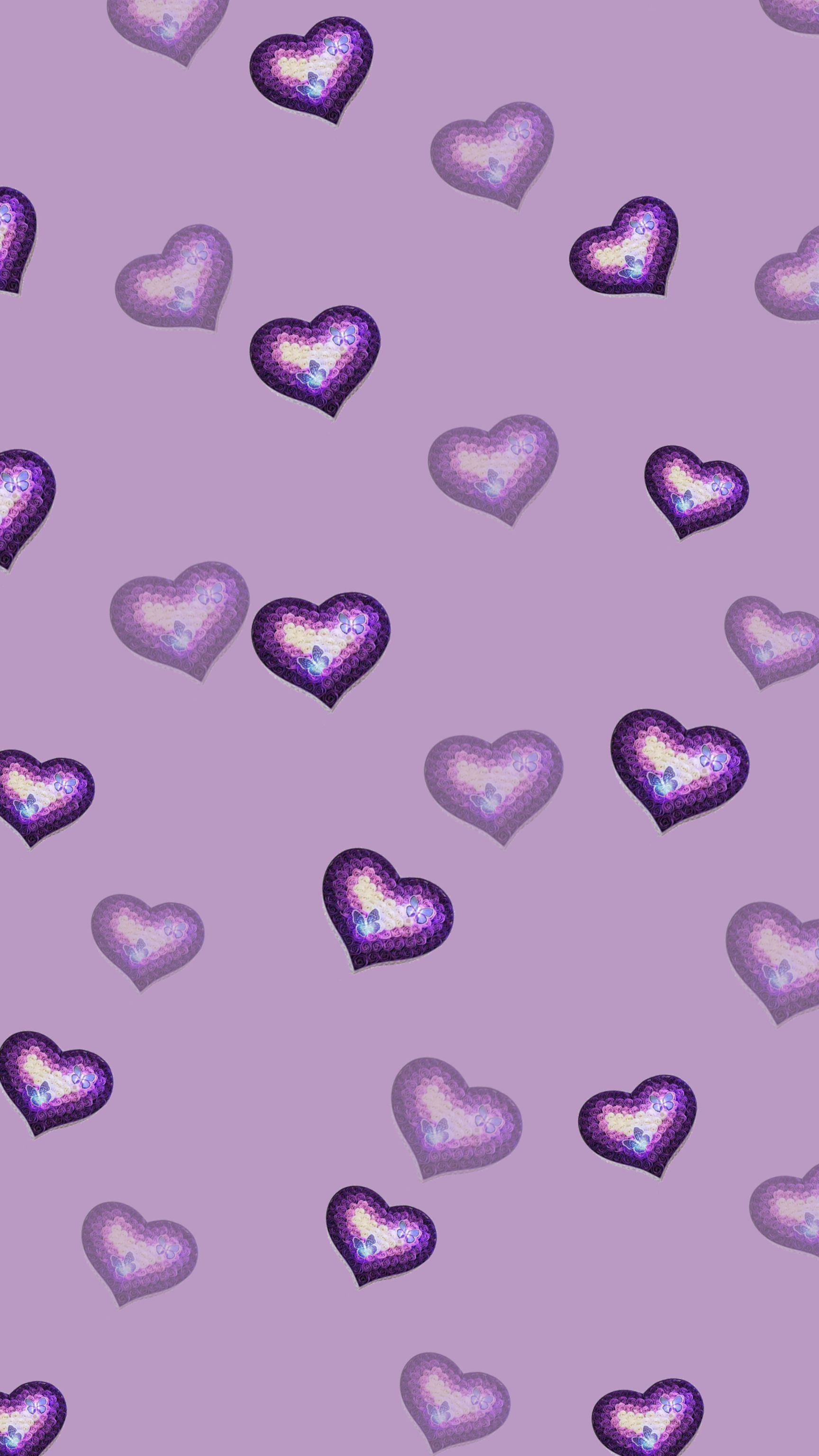 Lilac Purple Heart Wallpaper Purple Wallpaper Cellphone Wallpaper