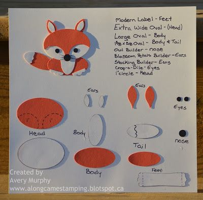 Stampin Up Punch Art What Does The Fox Say Paper Punch