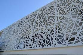Resultado de imagen de laser cut screen facade